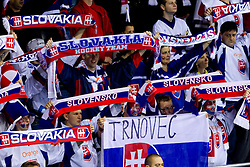 Fans of Slovakia during ice-hockey match between Slovakia and Slovenia of Group A of IIHF 2011 World Championship Slovakia, on April 29, 2011 in Orange Arena, Bratislava, Slovakia. Slovakia defeated Slovenia 3-1. (Photo By Vid Ponikvar / Sportida.com)