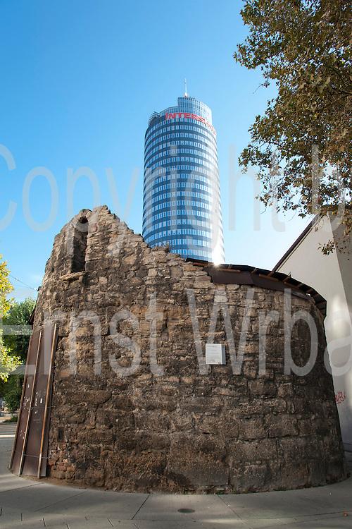 Anatomieturm und JenTower, Stadtbefestigung Wehranlagen, Jena, Thüringen, Deutschland | city walls, Anatomy and Jen Tower, Jena, Thuringia, Germany