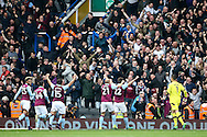 Gary Gardner of Aston Villa (2nd right) celebrates with his team mates after scoring during the Sky Bet Championship match at St Andrews, Birmingham<br /> Picture by Andy Kearns/Focus Images Ltd 0781 864 4264<br /> 30/10/2016