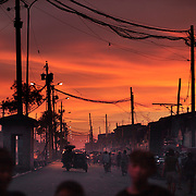 A street scene in the Parola district of Tondo, one of the worst slum areas of Manila on October 8, 2008 in Manila, the Philippines. Photo Tim Clayton