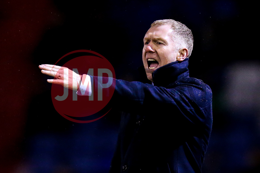 Oldham Athletic manager Paul Scholes - Mandatory by-line: Robbie Stephenson/JMP - 19/02/2019 - FOOTBALL - Boundary Park - Oldham, England - Oldham Athletic v Morecambe - Sky Bet League Two