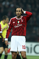 23.11.2011, Giuseppe Meazza Stadion, Mailand, ITA, UEFA CL, Gruppe H, AC Mailand (ITA) vs FC Barcelona (ESP), im Bild Alessandro Nesta Milan // during the football match of UEFA Champions league, group H, between Gruppe H, AC Mailand (ITA) and FC Barcelona (ESP) at Giuseppe Meazza Stadium, Milan, Italy on 2011/11/23. EXPA Pictures © 2011, PhotoCredit: EXPA/ Insidefoto/ Paolo Nucci..***** ATTENTION - for AUT, SLO, CRO, SRB, SUI and SWE only *****