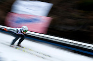 Klemens Muranka of Poland competes while training session during FIS World Cup Ski Jumping competition in Zakopane, Poland on January 17, 2014.<br /> <br /> Poland, Zakopane, January 17, 2014.<br /> <br /> Picture also available in RAW (NEF) or TIFF format on special request.<br /> <br /> For editorial use only. Any commercial or promotional use requires permission.<br /> <br /> Mandatory credit:<br /> Photo by © Adam Nurkiewicz / Mediasport