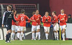 26.11.2010, Bruchwegstadion, Mainz, GER, 1. FBL, FSV Mainz 05 vs 1.FC Nuernberg, im Bild de Kollegen gratulieren Andre SCHUERRlE (Mainz GER #14) zum 1:0, EXPA Pictures © 2010, PhotoCredit: EXPA/ nph/  Roth       ****** out ouf GER ******