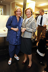 Left to right, HM QUEEN ANNE-MARIE OF GREECE and EMMA THOMPSON at a party to celebrate the opening of Pincess Marie-Chantal of Greece's store 'Marie-Chantal' 133A Sloane Street, London on 14th October 2008.
