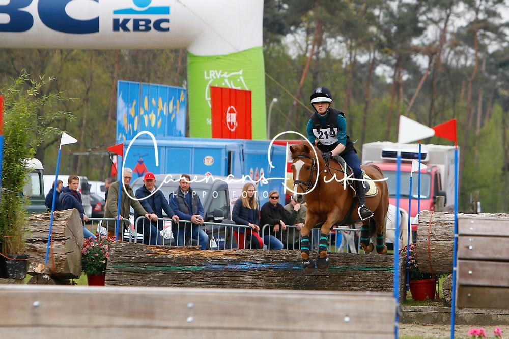 De Kempeneer Arne, BEL, Joly's Dusty<br /> Nationale LRV-Eventingkampioenschap Ponies Minderhout 2017<br /> &copy; Hippo Foto - Kris Van Steen<br /> 29/04/17