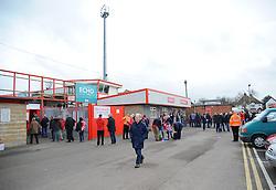 Whaddon Road. - Photo mandatory by-line: Nizaam Jones - Mobile: 07966 386802 - 28/02/2015 - SPORT - Football - Cheltenham- Whaddon Road - Cheltenham Town v Tranmere Rovers - Sky Bet League Two
