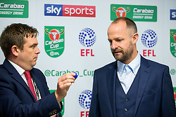 Former Bristol City player Louis Carey takes part in a practice run for the semi final draw - Rogan/JMP - 20/12/2017 - Ashton Gate Stadium - Bristol, England - Bristol City v Manchester United - Carabao Cup Quarter Final.