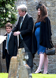Earl Spencer  arriving  at the wedding of Emily McCorquodale and James Hutt in Stoke Rochford,Lincolnshire, on Saturday, 9th June 2012.  Photo by: i-Images.
