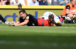 Saracens full back Alex Goode scores a late try to win the game for Saracens  - Mandatory by-line: Joe Meredith/JMP - 28/05/2016 - RUGBY - Twickenham - London, England - Saracens v Exeter Chiefs - Aviva Premiership Final