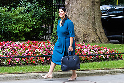 London, June 27th 2017. International Development Secretary Priti Patel attends the weekly UK cabinet meeting at 10 Downing Street in London.