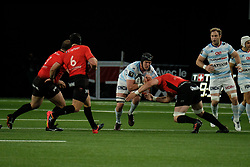 April 8, 2018 - Nanterre, Hauts de Seine, France - Racing 92 Lock BERNARD LE ROUX in action during the French rugby championship Top 14 match between Racing 92 and RC Toulon at U Arena Stadium in Nanterre - France..Racing 92 Won  17-13. (Credit Image: © Pierre Stevenin via ZUMA Wire)