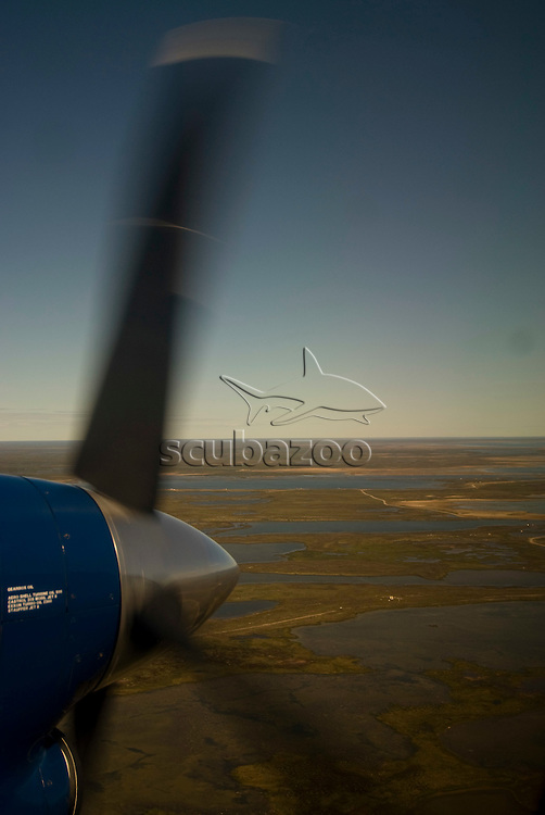 View of Tundra from plane, Great Ocean Adventures Shoot, Canada.