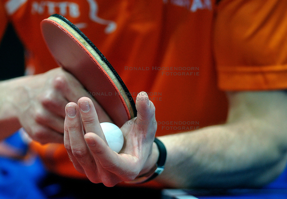 09-05-2011 TAFELTENNIS: WORLD TABLE TENNIS CHAMPIONSHIPS: ROTTERDAM<br /> Bat, ball, ping pong creative item<br /> &copy;2011-FotoHoogendoorn.nl