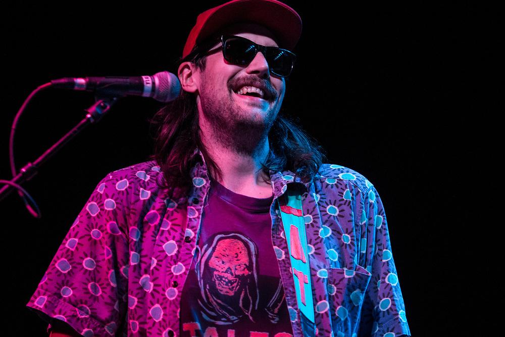 Eric Randall of Tacocat performing at the Constellation Room in Santa Ana, CA, April 19, 2017