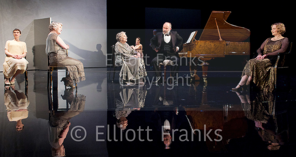 Waste <br /> by Harley Granville Barker<br /> at the Lyttelton Theatre, NT, Southbank, London, Great Britain <br /> 9th November 2015 <br /> <br /> <br /> Emerald O'Hanrahan as Lucy Davenport <br /> Sylvestra le Touzel as Frances Trebell<br /> William Chubb as George Farrant<br /> Doreen Mantle as Countess Mortimer <br /> Olivia Williams as Amy O'Connell <br /> Louis Hilyer as Russell Blackborough<br /> Lucy Robinson as Julia Farant <br /> <br /> <br /> Photograph by Elliott Franks <br /> Image licensed to Elliott Franks Photography Services