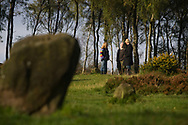 Ruth, Gaz and Jav, three campaigners and residents of the Nine Ladies protest camp at Stanton Lees, near Matlock in Derbyshire, pictured at the Nine Ladies stone circle in the Derbyshire Dales. The ancient woodland and stone circle were threatened by a proposed quarry near the site. Following a nine year campaign by protesters the quarry proposal has now been rejected, and the camp will soon be dismantled and vacated.
