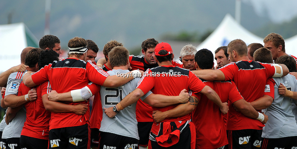Crusaders team during their Super Rugby Pre-season game Crusaders v Highlanders. Rugby Park, Greymouth, New Zealand. Friday 3 February 2012. Photo: Chris Symes/www.photosport.co.nz