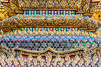 column detail grand palace Phra Mondop at Bangkok Thailand