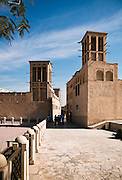 Traditional buildings with windtowers in Bastakiya district of old Dubai