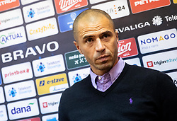 Dejan Grabić, head coach of Bravo during press conference after the football match between NK Bravo and NK Celje in 13th Round of Prva liga Telekom Slovenije 2019/20, on October 5, 2019 in ZAK stadium, Ljubljana, Slovenia. Photo by Vid Ponikvar / Sportida