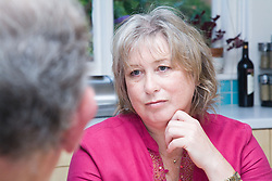 Woman listening to her friend talking,