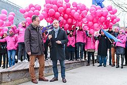 23.02.2018, Eduard Wallnöfer Platz, Innsbruck, AUT, Landtagswahl in Tirol 2018, NEOS Wahlkampfschlussveranstaltung, im Bild v.l.: Spitzenkandidat Dominik Oberhofer (NEOS), Bundesparteichef Matthias Strolz (NEOS) // during a campaign event of the NEOS Party for the State election in Tyrol 2018. Eduard Wallnöfer Platz in Innsbruck, Austria on 2018/02/23. EXPA Pictures © 2018, PhotoCredit: EXPA/ JFK