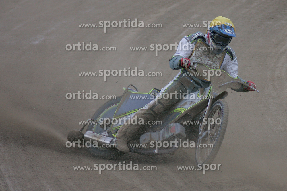 Ales Kraljic of Slovenia at Speedway European Championship race semi finals of individuals, on June 19, 2010, in Sportni park Ilirije, Ljubljana, Slovenia. (Photo by Urban Urbanc / Sportida)