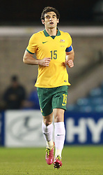 Mile Jedinak of Australia celebrates scoring his sides second goal - Photo mandatory by-line: Robin White/JMP - Tel: Mobile: 07966 386802 01/01/2014 - SPORT - FOOTBALL - The Den - Australia v Ecuador - World Cup Warm Up