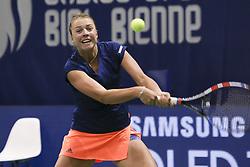 April 14, 2017 - Biel, Schweiz - Tennis 13.04.2017, Biel, Ladies Open Biel 2017 Im Bild Anett Kontaveit (EST) (Credit Image: © EQ Images via ZUMA Press)