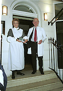 Kate's parents, Humphrey and Polly Wood. Doctors and Nurses charity party in aid of Cancer Research Fund. Floriana restaurant. 29 November 2000. © Copyright Photograph by Dafydd Jones 66 Stockwell Park Rd. London SW9 0DA Tel 020 7733 0108 www.dafjones.com