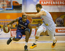 18.11.2015, Walfersamhalle, Kapfenberg, AUT, FIBA Europe Cup, ece Bulls Kapfenberg vs Le Havre, im Bild Malela Mutuale (Le Havre), Mirza Ahmetbasic (Bulls Kapfenberg) // during the FIBA Europe Cup, between ece Bulls Kapfenberg and Le Havre at the Sportscenter Walfersam, Kapfenberg, Austria on 2015/11/18, EXPA Pictures © 2015, PhotoCredit: EXPA/ Dominik Angerer