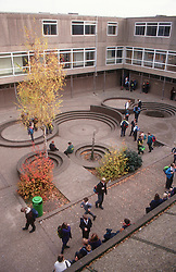 School buildings and playground,