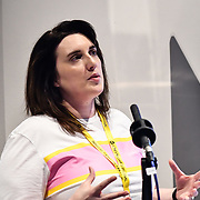 Speaker Jemma Harris, senior Producer - Supermissive Games  at London Games Festival 2019: HUB at Somerset House at Strand, London, UK. on 2nd April 2019.