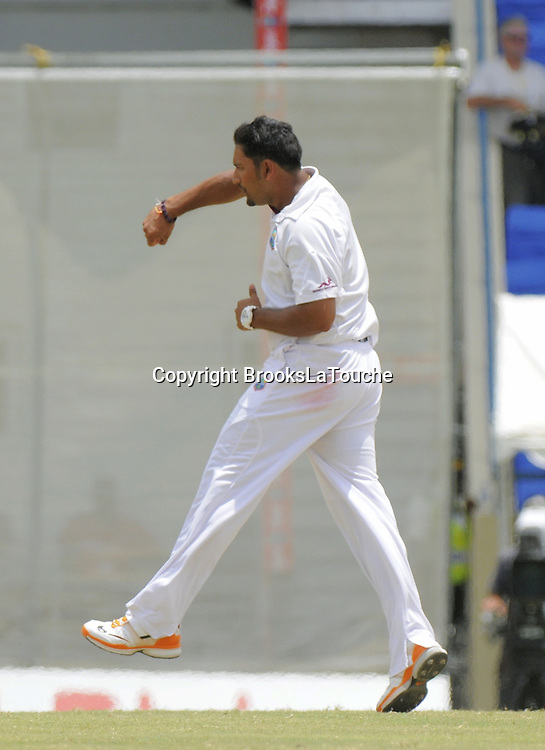 Ravi Rampaul, Day 5 of the first test West Indies v New Zealand at Sir Vivian Richards Stadium, Antigua, West Indies. 29 July 2012. Photo: Randy Brooks/Photosport.co.nz