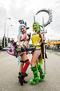 Jinx and Soraka. Cosplayer at Animefest 2015 in the city of Brno, czech republic.