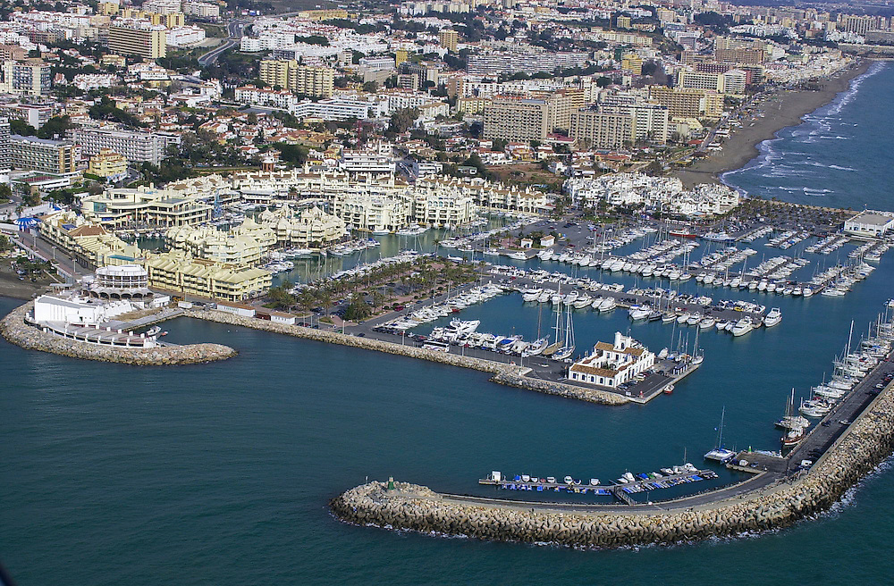 Aerial picture of Benalmadena marina, Costa del Sol, Spain