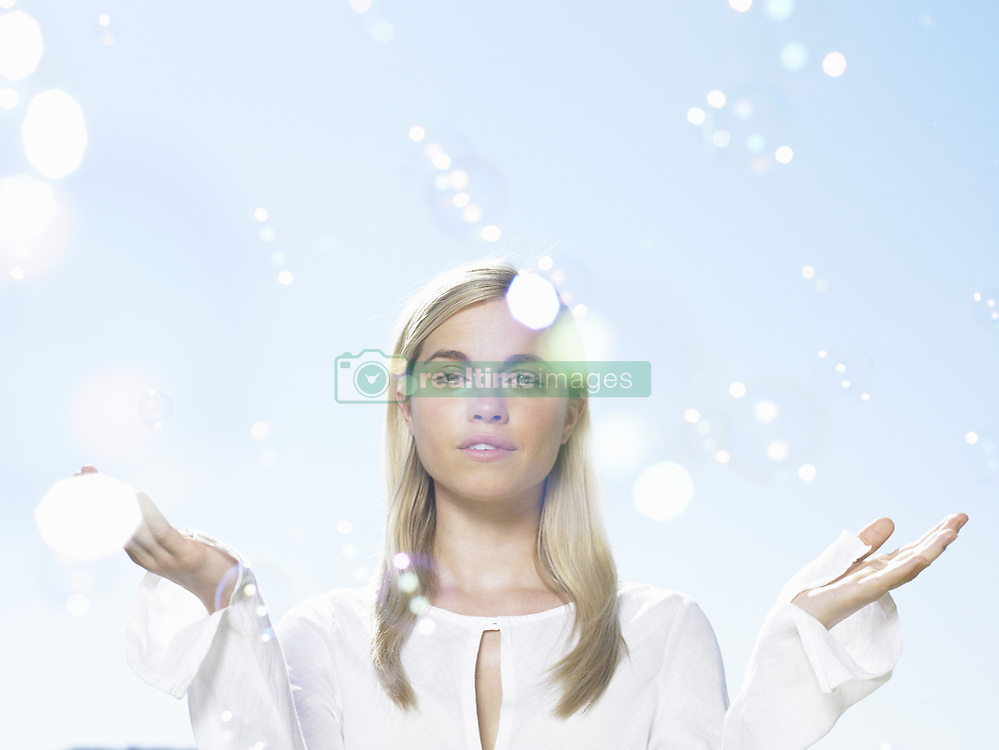 Jul. 10, 2008 - Girl in sunlight with bubbles. Model Released (MR) (Credit Image: © Cultura/ZUMAPRESS.com)