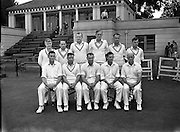 18/07/1958<br /> 07/18/1958<br /> 18 July 1958<br /> Cricket - Ireland vs. New Zealand at College Park, Trinity College, Dublin. The New Zealand Team.