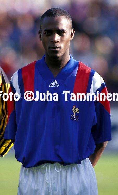 07.09.1993.Oumar Dieng - France U-21.©JUHA TAMMINEN