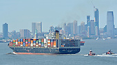 Images of Containership MV 'GSL Tianjin' in New York Harbor