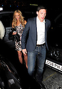 13.APRIL.2011. LONDON<br /> <br /> THE ONLY WAY IS ESSEX STARS KIRK NORCROSS AND LAUREN POPE SHARED A STEAMY KISS IN THEIR CAB. THE PAIR ALONG WITH KATIE PRICE AND BOYFRIEND LEANDRO PENNA STARTED OUT AT NOBU BERKELEY STREET RESTAURANT BEFORE HEADING TO WHISKY MIST NIGHTCLUB TILL 2:30AM.<br /> <br /> BYLINE: EDBIMAGEARCHIVE.COM<br /> <br /> *THIS IMAGE IS STRICTLY FOR UK NEWSPAPERS AND MAGAZINES ONLY*<br /> *FOR WORLD WIDE SALES AND WEB USE PLEASE CONTACT EDBIMAGEARCHIVE - 0208 954 5968*