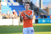 Luton Town Defender Glen Rea claps the fans after the EFL Sky Bet League 2 match between Colchester United and Luton Town at the Weston Homes Community Stadium, Colchester, England on 25 March 2017. Photo by Nigel Cole