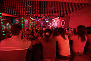 Sanlitun bar street nightlife district. Live music at Red Moon Club.