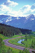 Alaska. Seward Highway along Kenai Peninsula.