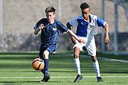 08.04.17; Zuerich; Fussball FCZ Academy - Grasshopper Club - Zuerich FE14 Oberland; <br /> Lederer Pascal (Zuerich) Gebreyesus Esey (GC) <br /> (Andy Mueller/freshfocus)