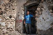 9 August 2018 &ndash; Mosul &ndash; Iraq &ndash; Father of four Youssef Shwbail, 59, is pictured outside his damaged home in the Myasa neighbourhood of Mosul&rsquo;s Old City. Shwbail&rsquo;s home is one of the houses that will be rehabilitated with the support of UNDP&rsquo;s Funding Facility for Stabilization (FFS). <br /> <br /> &copy; UNDP Iraq / Claire Thomas