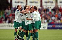 Fotball, Eliteserie, 25 juli 2004, Alfheim Stadion i Tromsø, TROMSØ IL - HAM KAM 0-3,  Jubel etter 0-1<br /> FOTO: KAJA BAARDSEN/DIGITALSPORT