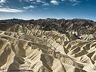 Zabriskie Point in Death Valley is commonly photographed in early morning or evening light, but I was struck by the many shadows produced by the harsh afternoon sun. Beautiful and stark, this area is dangerously hot in the summer.