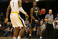 March 5, 2018 - Asheville, North Carolina - U.S. Cellular Center: ETSU guard Desonta Bradford (1)<br /> <br /> Image Credit: Dakota Hamilton/ETSU